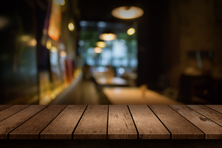 Photo for Blur coffee shop or cafe restaurant with abstract bokeh light background. For create montage product display - Royalty Free Image