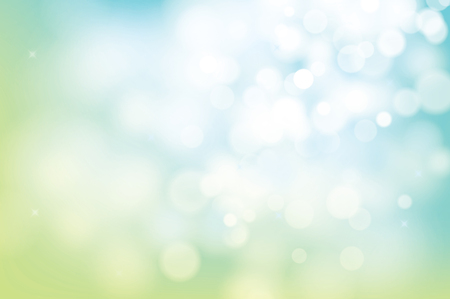 Ilustración de Spring green bokeh blur abstract background. - Imagen libre de derechos