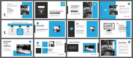 Photo pour Presentation and slide layout template. Design blue geometric background. Use for business annual report, flyer, marketing, leaflet, advertising, brochure, modern style. - image libre de droit