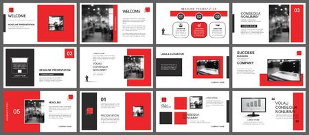 Photo pour Presentation and slide layout template. Design red geometric background. Use for business annual report, flyer, marketing, leaflet, advertising, brochure, modern style. - image libre de droit