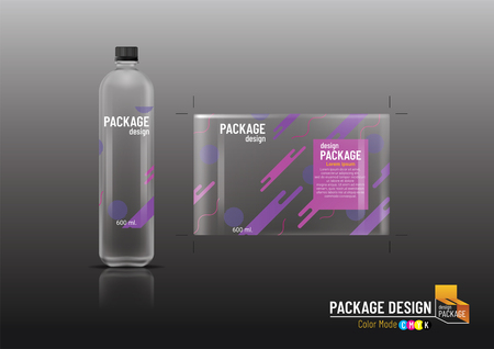 Illustration pour Package design, Label Template & Plastic bottle, mock up-Vector illustration - image libre de droit