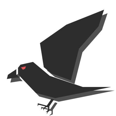 Illustration pour illustration of halloween characters - crow - image libre de droit