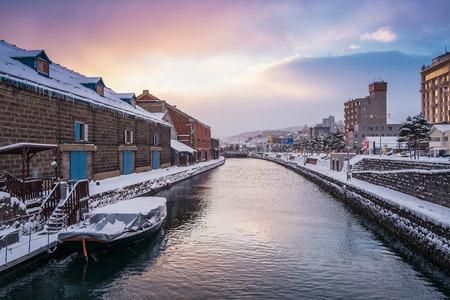 Photo for Otaru Canal in Winter Moring, Hokkaido, Japan - Royalty Free Image