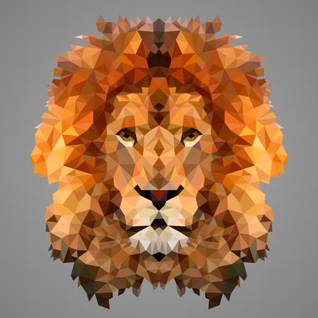 Illustration pour Lion low poly portrait. Low poly design. - image libre de droit