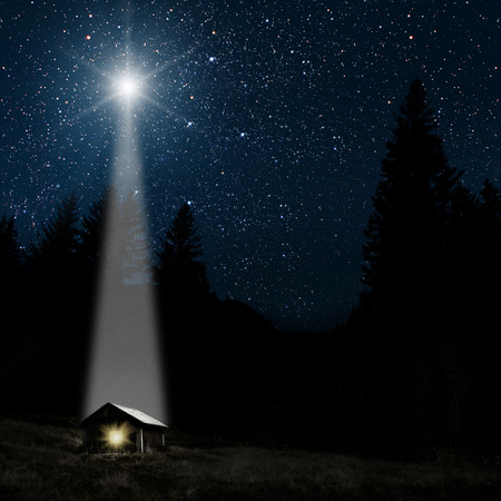 Foto de The star indicates the christmas of Jesus Christ. - Imagen libre de derechos