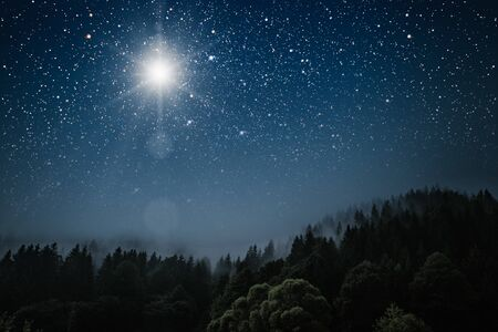 Photo for The star indicates the christmas of Jesus Christ. - Royalty Free Image