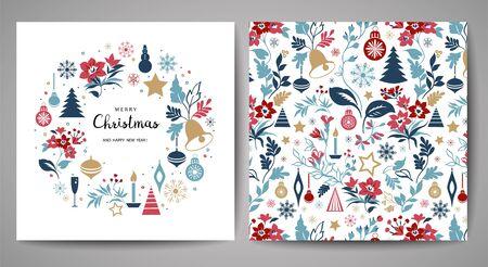 Illustration pour Merry Christmas greeting card. - image libre de droit