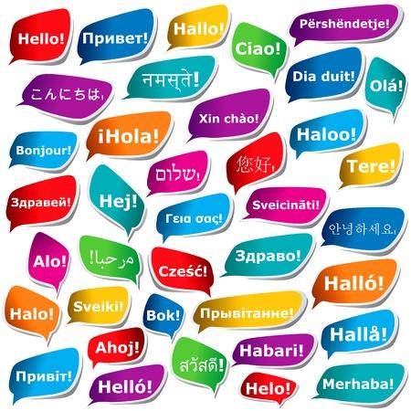 Illustration pour 38 ways to say Hello - image libre de droit