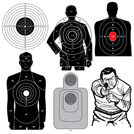 Set of 6 Shooting Targets
