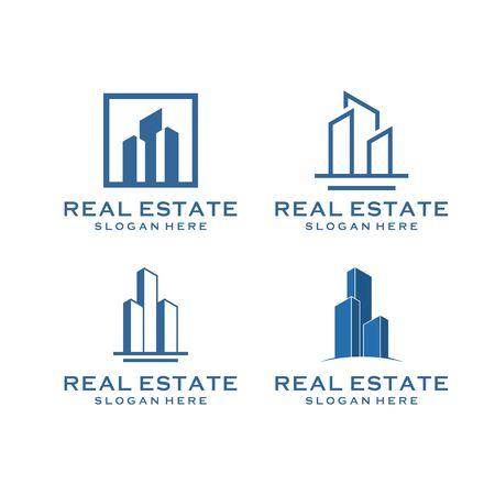 Illustration pour inspirational real estate building design bundle that contain 4 - image libre de droit