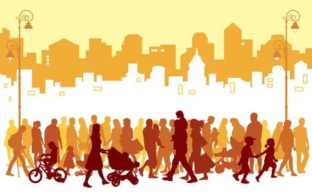 Foto de Crowd of people walking on a street.  - Imagen libre de derechos