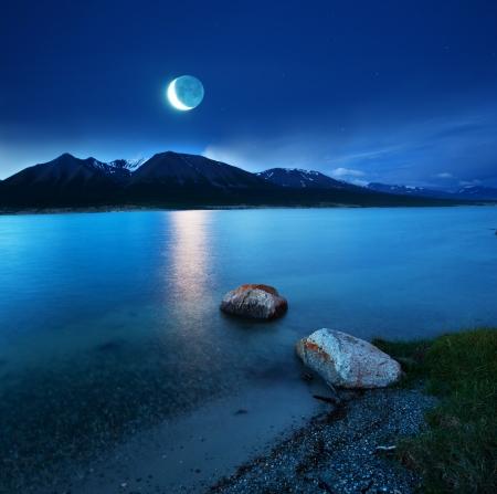 lake at moonlight