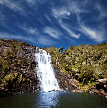 waterfall in KenyaAberdare park