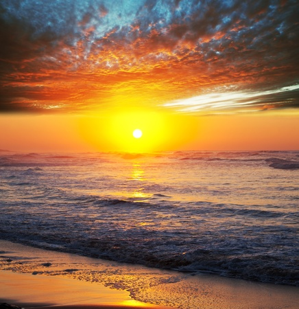 Brilliant Sea Sunset