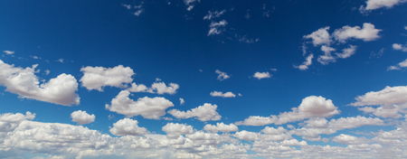 Peaceful blue sky and white clouds