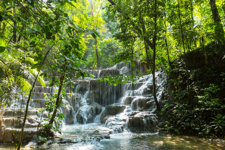 Waterfall in jungle, Mexico