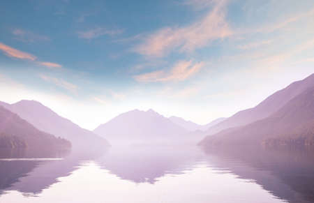 Photo pour Serenity lake in the mountains in summer season. Beautiful natural landscapes. - image libre de droit