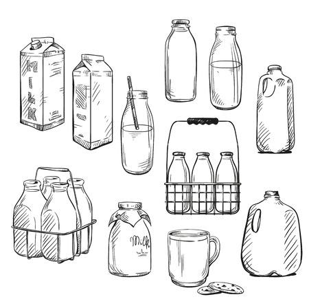 Vektor für Milk. Packaging. Vector illustration. - Lizenzfreies Bild