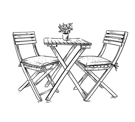 Illustration pour garden furniture - image libre de droit