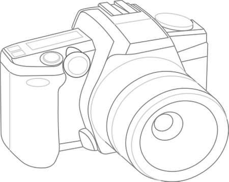 model of camera on white background