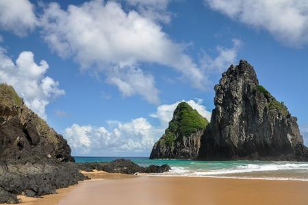 Cacimba do Padre beach - Morros gemeos, Fernando de Noronha island, Pernambuco  Brazil