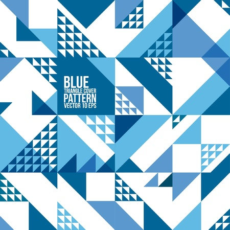 Abstract Geometric Blue Triangle Pattern   Background , Cover , Layout , Magazine, Brochure , Poster , Website , etc