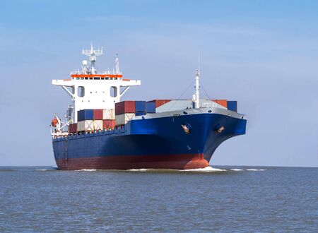 Photo for Logistics and Transportation of international Container Cargo ship - Royalty Free Image