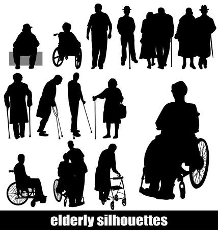 elderly silhouettes