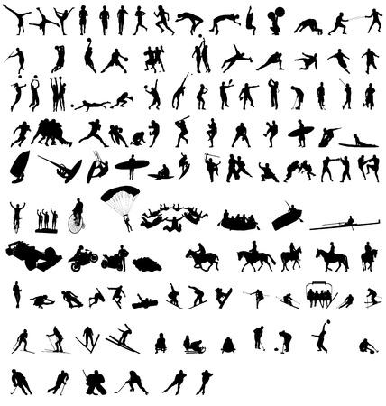 sportsilhouettes set