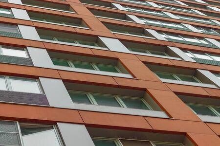 Photo pour bright facade of a modern apartment building, apartment complex. Moscow, Russia - image libre de droit