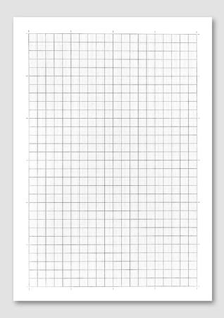 Photo pour graph paper on white background.  - image libre de droit
