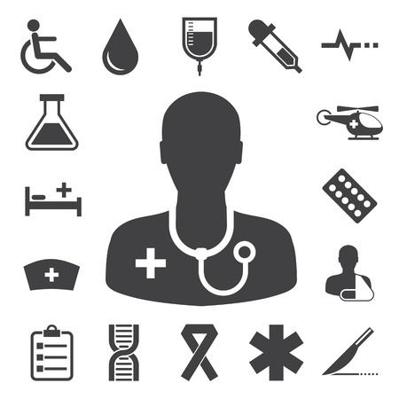 Medical icons set, . Illustration