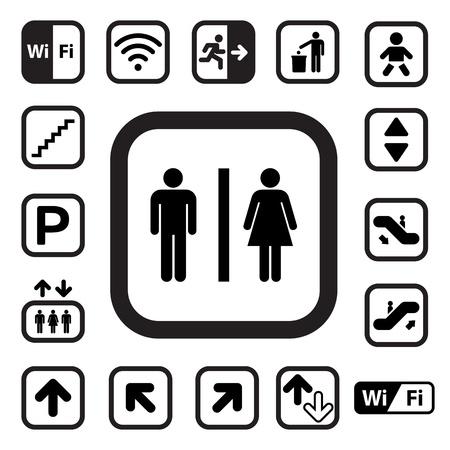 Illustration pour Public icons set.Illustration - image libre de droit