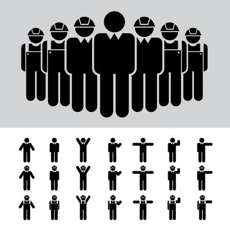 Vektor für Business man , Architect , engineer , worker , icon set .  - Lizenzfreies Bild