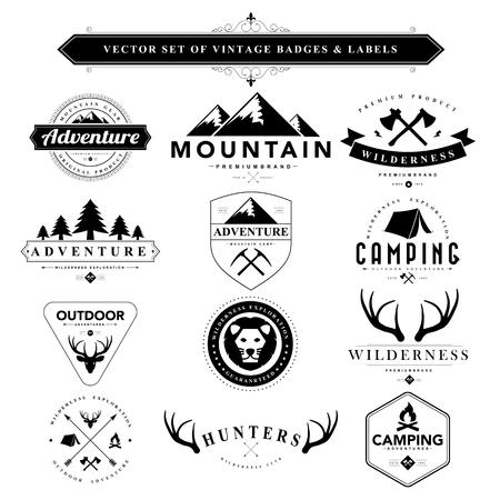 Set of black vintage badges and labels.Vector eps10