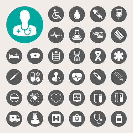 Illustration for Medical icons set - Royalty Free Image