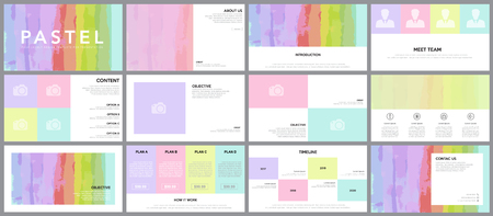 Illustration pour Design element of infographics for presentations templates. Annual report, book cover design template. Brochure, layout, Keynote ,Flyer layout design for artwork template. Vector Illustration. - image libre de droit