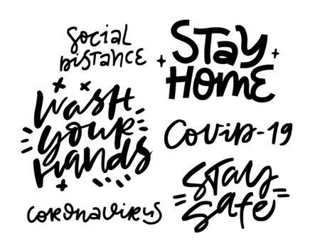 Illustration pour Lettering art. Coronavirus concept - image libre de droit