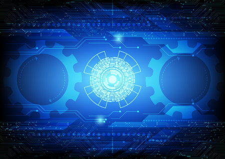 Abstract Gear digital technology and business concept. vector illustration background
