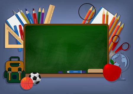 Illustration pour Back To School Banner Background vector illustration - image libre de droit