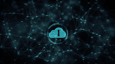 Foto de Cyber security Cloud computing big data online storage and Protection Technology network and data connection Concept. - Imagen libre de derechos