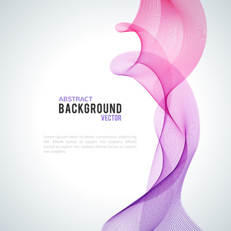 Abstract purple wave isolated on white background. Vector illustration for modern business design. Futuristic wallpaper. Cool element for presentation, card, flyer and brochure.
