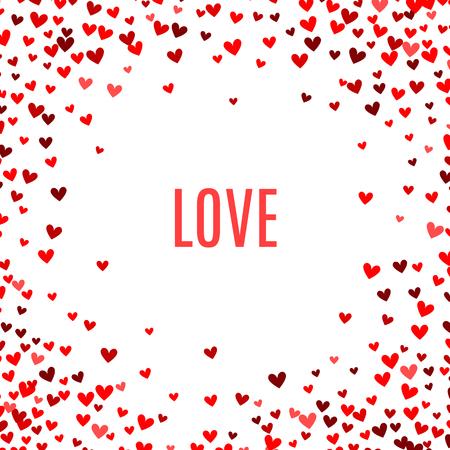 Illustration pour Romantic red heart background. - image libre de droit