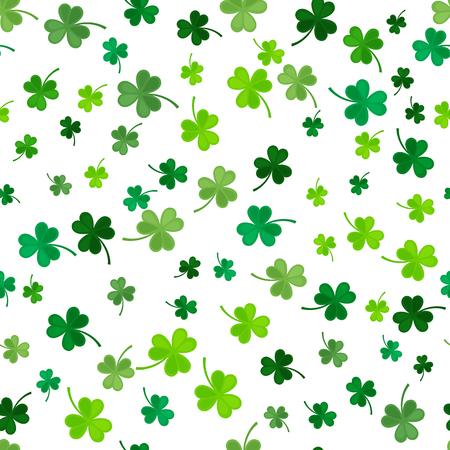 Illustration pour St Patrick's Day Clover seamless pattern. - image libre de droit