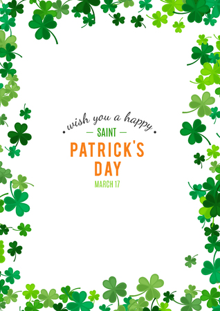 Illustration for St Patrick's Day background. - Royalty Free Image