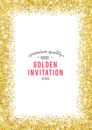 Ilustración de Gold glitter texture isolated on white background. - Imagen libre de derechos