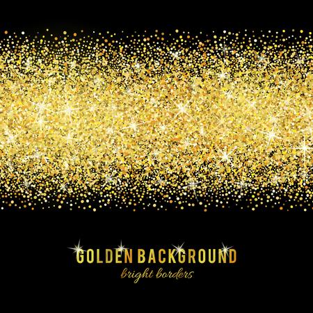 Illustration pour Gold glitter texture isolated on black background. - image libre de droit