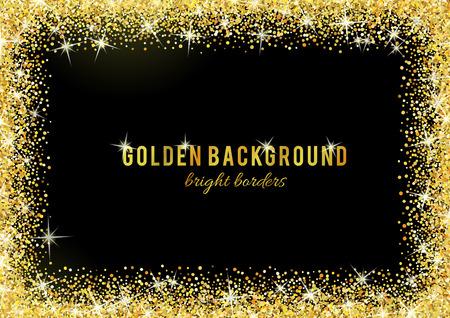 Ilustración de Gold glitter texture isolated on black background. - Imagen libre de derechos