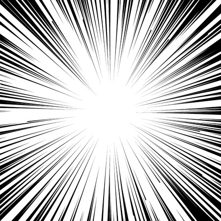 Abstract comic book flash explosion radial lines background.