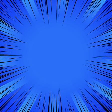 Ilustración de Abstract comic book flash explosion radial lines background. - Imagen libre de derechos
